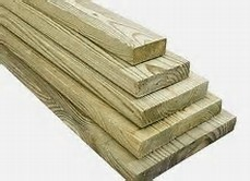 pressure treated wood and lumber