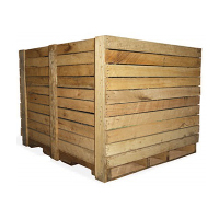 Lumber used for construction of shipping crates