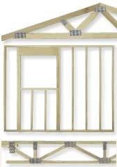 Ceiling trusses, floor joists, pre fab walls